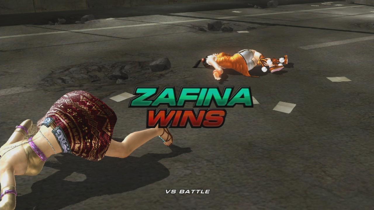 ザフィーナの勝利ポーズ